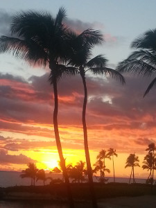 Sunset over Ko'Olina, taken with my camera phone.